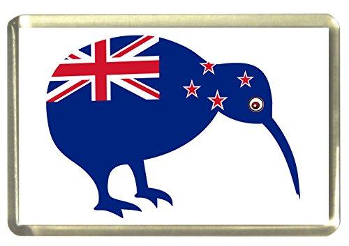 Kühlschrankmagnet mit Englischer Aufschrift Kiwi Neuseeland Flagge, Wimpel