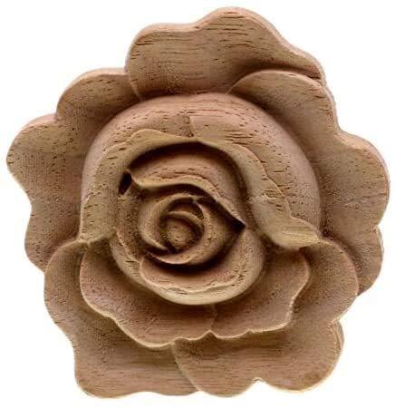 Soul hill Möbel Holzschnitzerei Applikationen Jahrgang Seedekor Schranktür Feste Abziehbilder Blumen-Muster aus Holz Geschnitzte