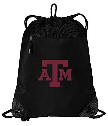 Texas A&M Aggies Drawstring Bag Texas A&M Cinch Pack Backpack UNIQUE MESH & MICROFIBER
