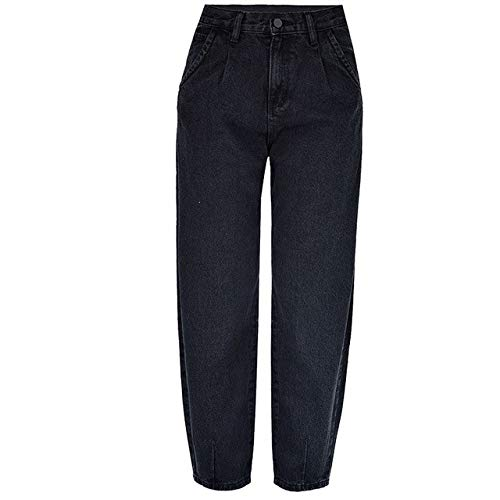 N\P Pantalones vaqueros para mujer, otoño, invierno, madres, jeans para mujer. Negro 40W