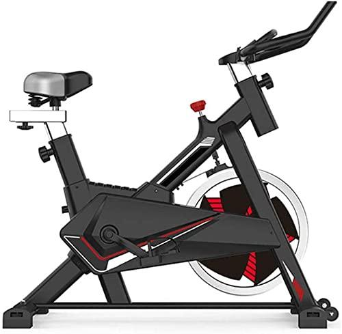 Bicicleta estática de Spinning estacionaria Suave y silenciosa Totalmente Ajustable con Sensor de frecuencia cardíaca y computadora de Viaje Multifuncional para Fitness en casa