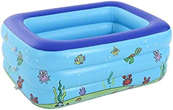 EEUK Piscina Hinchable Rectangular, Piscinas Inflables Infantiles Grandes, Jacuzzi Exterior Hinchable, Piscina Infantil al Aire Libre en Verano150 cm