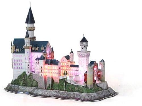 calidad de primera clase Daron Neuschwanstein Castle Led Led Led 3D Puzzle (128-Piece) by Daron  colores increíbles