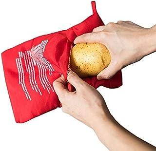 YSHG 1Pcs Red Washable Cooker Bag Microwave Baking Potatoes Bag Rice Pocket Cooking Tools Easy To Cook Kitchen Gadgets Bak...