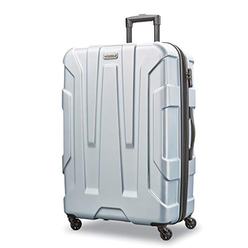 Samsonite Centric Hardside Expandable Luggage with Spinner Wheels, Silver, Checked-Large 28-Inch