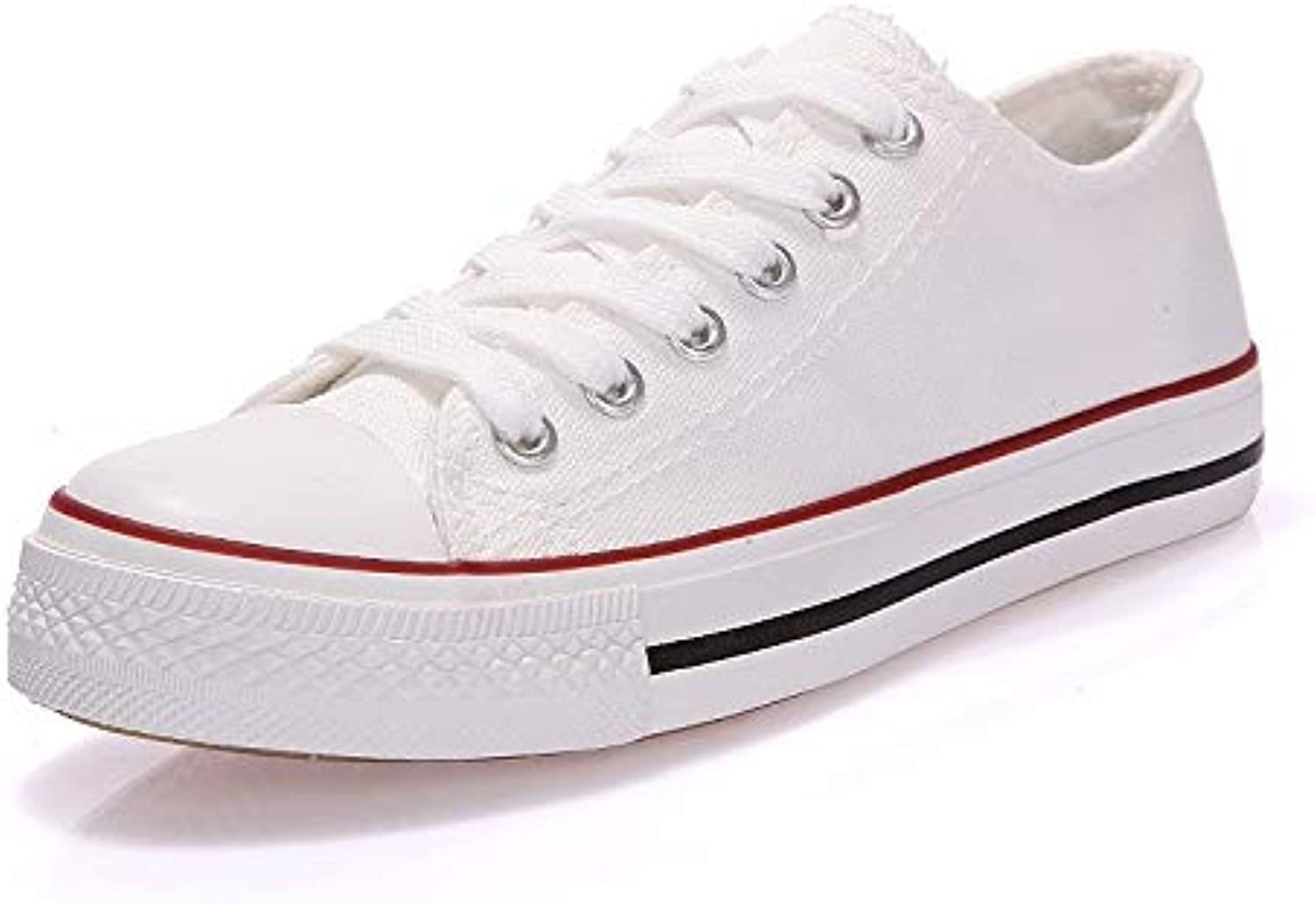 Women's shoes Canvas Spring Fall Comfort Sneakers Walking shoes Flat Heel Round Toe Black Red   bluee