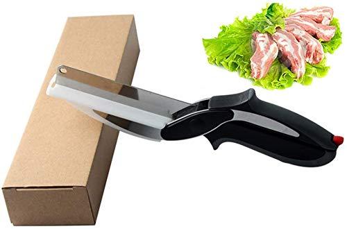 US-DXB Picador Inteligente, Cortador de rebanador de Alimentos con Tabla de Cortar incorporada: Corta rápidamente Sus Frutas, Verduras, Carnes, quesos y más Favoritos