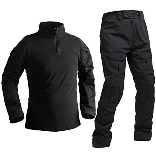 YZRDY Uniforme Militar táctica de Las Fuerzas Especiales Soldado Traje Militaire tácticas Paintball Ropa Hombres Combate Camisa Pantalones No Pads Combat (Color : Black, Size : 3XL.)