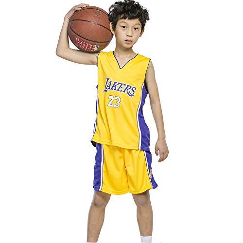 Chicos Cleveland Cavaliers Lebron James # 23 Pantalones Cortos de Baloncesto Camisetas de Verano para niñas Uniforme de Baloncesto Top y Short