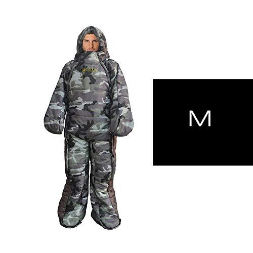 DADZSD Saco de Dormir con Forma Humana Ajustable con Cremallera cómoda para Viajes al Aire Libre Camping Senderismo Accesorios Saco de Dormir para Acampar-Azul_China