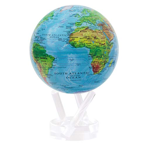 "4.5"" Blue with Relief Map MOVA Globe"