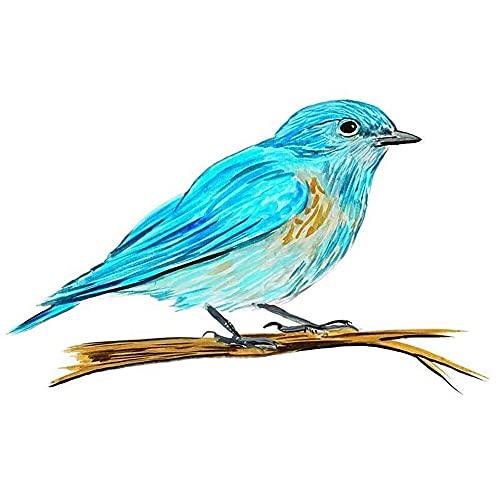 ZCZWQ 13cm x 8cm Etiqueta engomada del Coche de Vinilo para la Ventana Refrigerador Inicio & Wall NY State Bird Bluebird Pegatinas de Personalidad Etiqueta engomada de la decoración del Coche