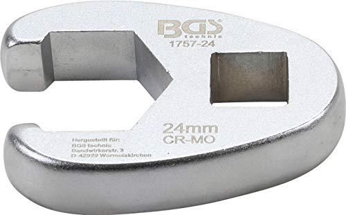 BGS 1757-24   Hahnenfußschlüssel   12,5 mm (1/2)   SW 24 mm