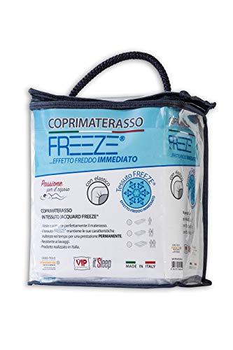 V.I.P. Very Important matras Freeze met elastiek aan de hoeken, jacquard, bi-elastisch, eenpersoonsbed, 90 x 200 cm