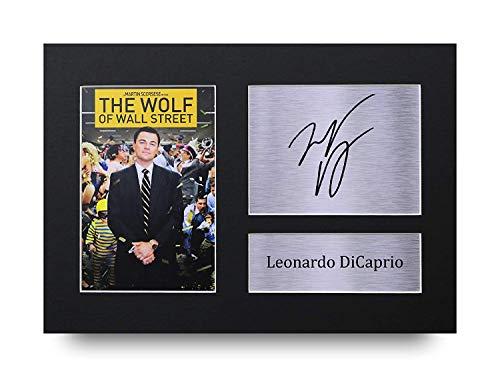 HWC Trading Leonardo Dicaprio A4 Ungerahmt Signiert Gedruckt Autogramme Bild Druck-Fotoanzeige Geschenk Für The Wolf of Wall Street Filmfans