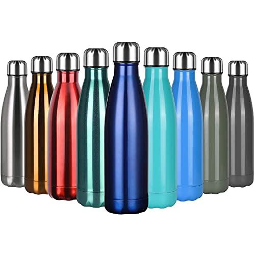 flintronic Botella Termica, 500ML Botella de Agua de Acero Inoxidable, Aislamiento de...
