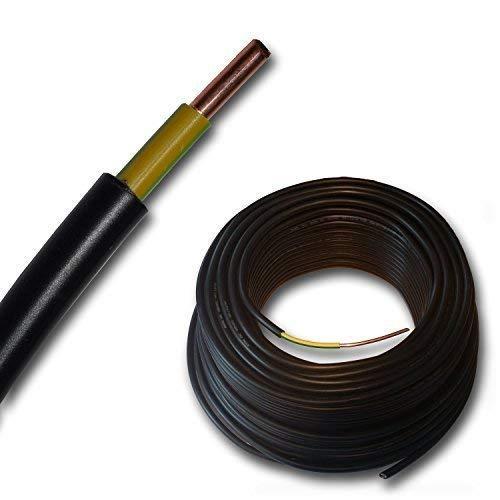 Erdungskabel - Erdkabel - NYY-J 1x6 mm² - schwarz - 15 m 20 m oder 25 Meter