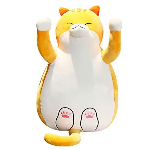 hzwh 40cm Cute Stuffed Cat Plush Toys For Children Soft Cartoon Animal Pillow Kawaii Cat Cushion Doll Home Decor Gift For Girl