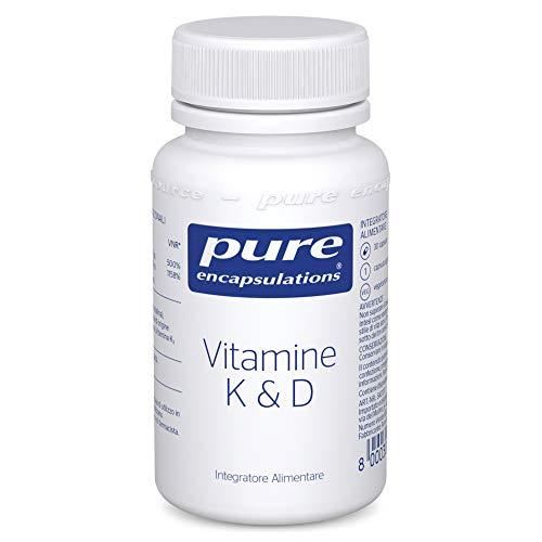 Pure Encapsulations - Vitamina K & D - Con Vitamina K1, K2 e D3 per la Salute di Arterie e Ossa - 30 Capsule