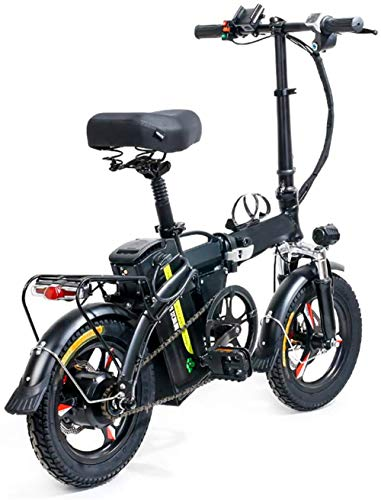 Electric Bike 14' Folding Electric Bike, 400W City Commuter Ebike, Removable lithium battery 48V 8AH/13AH with Three Working Modes Electric Bicycle for Adults and Teenagers,13AH ( Size : 8AH )