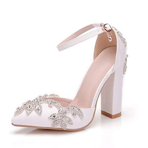 Zapatos De Novia, Zapatos De Boda, Sandalias De Diamantes De Imitación De...