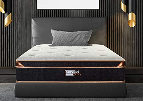Why Choose BedStory 10 inch Mattress, Gel Infused Memory Foam Mattress with Pocket Coil and Euro Top...