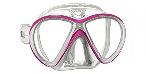 Mares X-Vu Sunrise Liquidskin Dive Mask - Pink/White