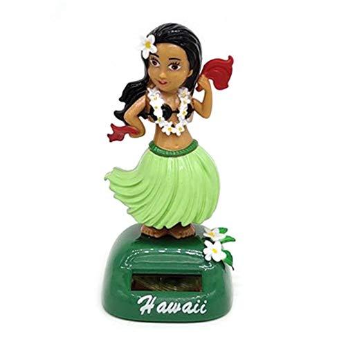 Liery Danseuse Hawaienne Voiture Décoration De Voiture Solaire Beauté Jupe Balançoire Pièce Poupée Danse Jouet Bureau Fournitures Maison Décoration Intérieure