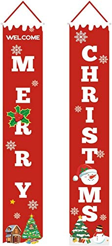 FEE-ZC Decoraciones Pendientes de Puerta navideña, diseños navideños Colgantes para Adornos de Exterior/Interior, Rojo