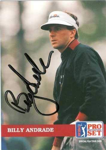 Save %32 Now! Billy Andrade autographed Trading Card (Golf) - Autographed Golf Equipment