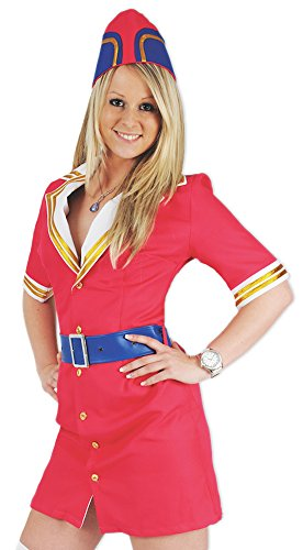 Pilotin Pink Fly Kostüm für Damen Gr. 42
