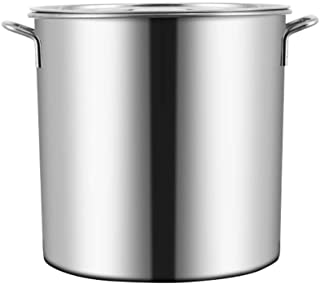 WQF Ollas Grandes, Bandeja de Cocina de Acero Inoxidable Base de inducción de Tapa de Acero Inoxidable, Dos Opciones de tamaño (Tamaño: 40 * 41 cm (50L)) (Tamaño: 40 * 41cm (50L))