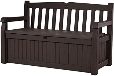 Stupendous Amazon Com Leisure Season Wood Bench With Raised Planter Andrewgaddart Wooden Chair Designs For Living Room Andrewgaddartcom