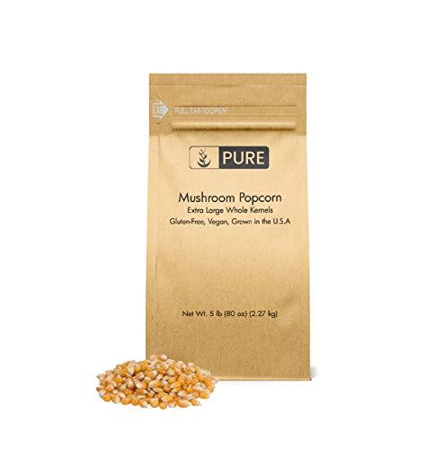 Mushroom Popcorn Kernels (5 lb), Gourmet Popcorn, Gluten Free, Vegan, Ideal for Caramel Corn & Popcorn Balls, Eco-Friendly Packaging (Also in 15 lb)