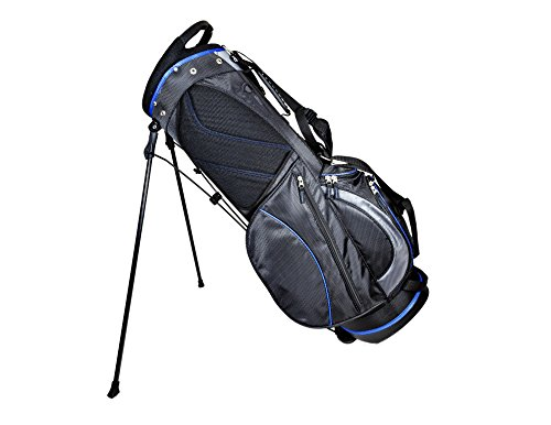 Club Champ Deluxe Stand Golf Bag, Black/Blue