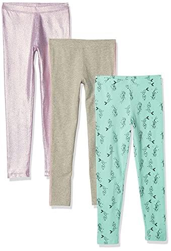 Spotted Zebra Leggings, 3-Pack Mermaid Shine, XS, Pack de 3