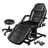OmySalon Electric Height Adjustable Salon Tattoo Chair, Multi-Purpose Facial Bed...
