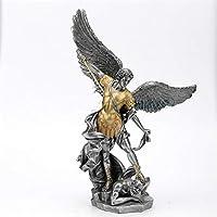 家庭用部品置物像彫刻装飾家の装飾手作り装飾ヨーロッパ聖ミカエル彫刻ファイティングエンジェルホームワインキャビネットリビング