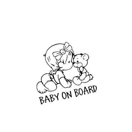 Apofly 1 Pc Baby An Bord Auto-Aufkleber Baby-Sign Auto Aufkleber FüR Auto Baby Schlafzimmer Wand Dekoration