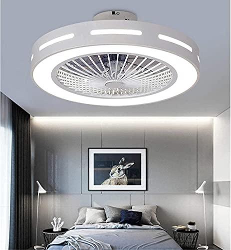 Ventiladores De Techo Con Luces Luz De Techo Led De 36W Luz De Techo Regulable Con Control Remoto Luz De Ventilador Ultra Silenciosa Sala De Estar Dormitorio Lámpara De Techo, Azul Claro