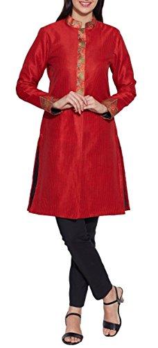 Vestiti per le donne di seta del faux - 100% poliestere rivestimento lungo, giallo limone, W-FLJ 34-2304, Size-34 pollici