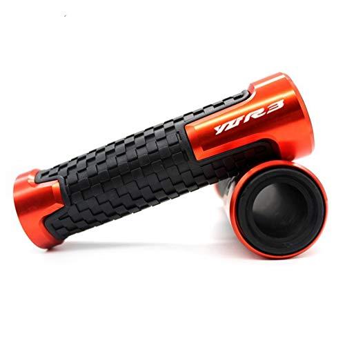 para Yamaha YZF-R3 YZFR3 YZF R3 Accesorios de Motocicleta 7/8'22mm empuñaduras de Manillar Protector de empuñadura Barra de Manillar empuñadura Motocicleta (Color : Orange)