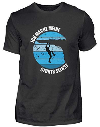 Klettern Ich Mache Meine Stunts selbst Bouldern Kletterhalle Kletterer Bergsteigen - Herren Shirt -3XL-Schwarz