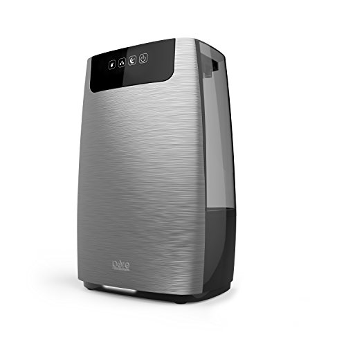 Pure Enrichment HumeXL Ultrasonic Cool Mist Humidifier for Large Rooms Lasts up to 50 Hours, Easy-to-Clean 1.3 Gallon Water Tank, Touch-Button Control, 2 Independent 360° Mist Nozzles and Night Mode