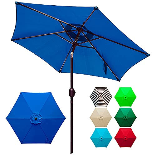 DIOFUN 7.5ft Umbrella Top for Patio/Market Umbrella Replacement Canopy with 8 Ribs