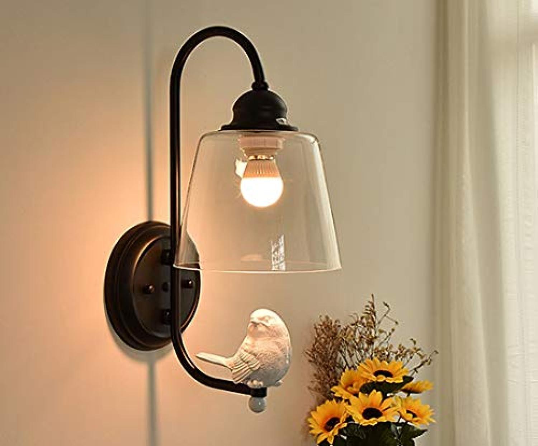 Xiao Yun  Moderne Einfache Schreibtischlampe Gang Wohnzimmer Schlafzimmer Wandleuchte Glas Wandleuchte Kreative Vogel Wandleuchte Sockel E27 (Enthlt Keine Lichtquelle) (Farbe  Schwarz)