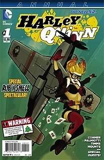 Harley Quinn Annual #1 Comic Book (2013) DC Comics / RARE Polybagged Bombshells Rub n' Smell Variant Cover Edition
