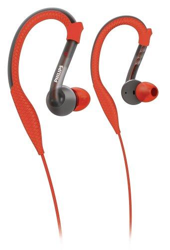 PHILIPS 汗に強いスポーツモデルイヤホン 耳から外れにくいイヤーフックタイプ SHQ3200