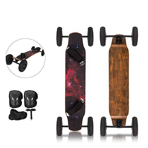 OldFe 39cm Skateboard Professioanle capacità 200KG Skateboard con 4 Ruote da 20cm per Cruising Free-Style Downhill E Dancing in Stella