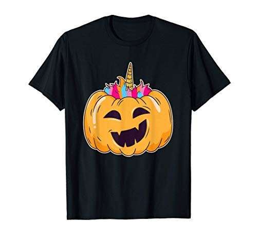 Calabaza del Unicornio I Unicornio I Disfraz de Halloween Camiseta